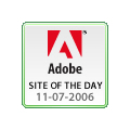 Adobe Site of the Day November 7th, 2006